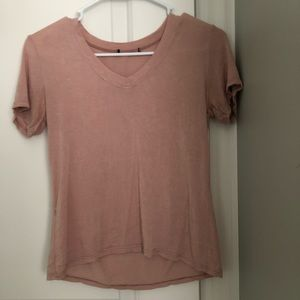 Brandy Melville dusty pink v neck